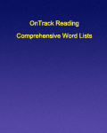 Comprehensive Word Lists